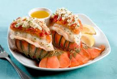 Crab Cake Stuffed Lobster Tails