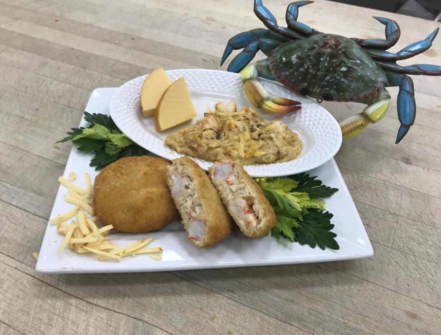 shrimp au gratin cakes