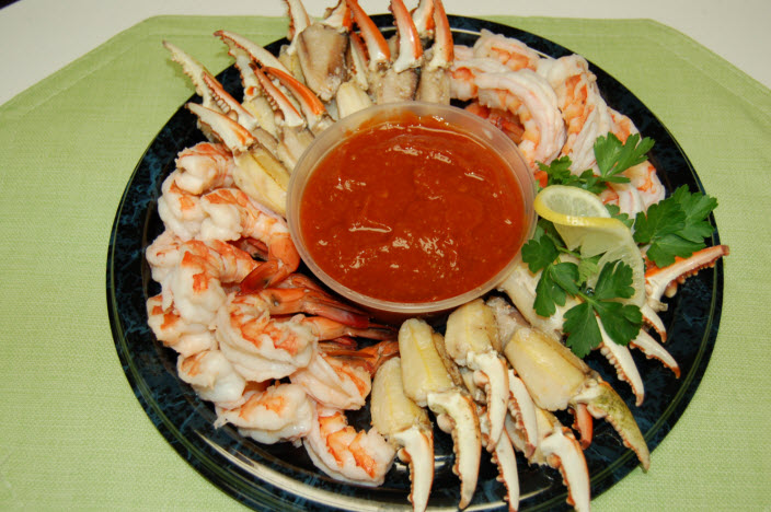 Shrimp & Crab Cocktail Claw Platter Colmar PA