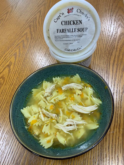 Chicken Farfalle soup