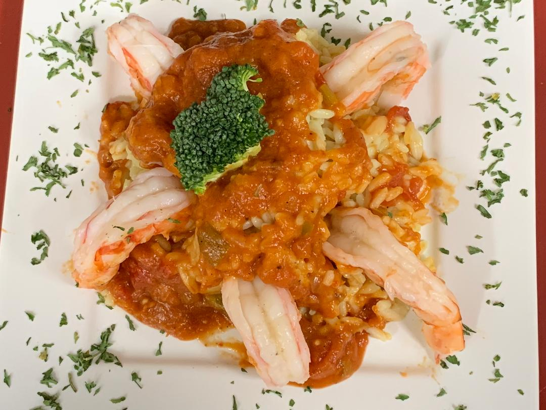 Shrimp Creole over Rice Pilaf